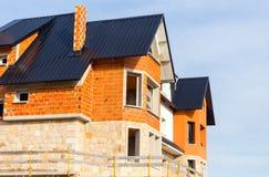 σπίτι κατασκευής κάτω Στοκ φωτογραφία με δικαίωμα ελεύθερης χρήσης