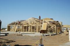 σπίτι κατασκευής νέο Στοκ φωτογραφία με δικαίωμα ελεύθερης χρήσης