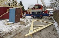 σπίτι κατασκευής ξύλινο Στοκ φωτογραφίες με δικαίωμα ελεύθερης χρήσης
