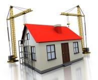 σπίτι κατασκευής Στοκ εικόνα με δικαίωμα ελεύθερης χρήσης