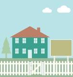 σπίτι κατοικημένο ελεύθερη απεικόνιση δικαιώματος