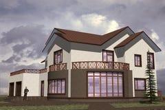 Σπίτι κατοικημένο διανυσματική απεικόνιση