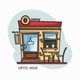 Σπίτι καφέ ή κατάστημα, κατάστημα για τα ποτά Στοκ φωτογραφίες με δικαίωμα ελεύθερης χρήσης