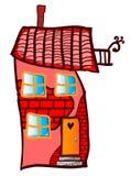 Σπίτι κινούμενων σχεδίων Στοκ Εικόνες