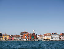 Σπίτι κοντά στο νερό στη Βενετία Στοκ Φωτογραφία