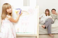 σπίτι κοριτσιών σχεδίων Στοκ Εικόνες