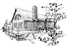 Σπίτι κούτσουρων Στοκ Εικόνες