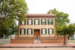 σπίτι Λίνκολν s του Abraham Στοκ Εικόνες