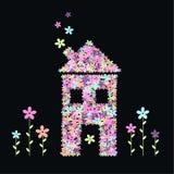 σπίτι λουλουδιών Στοκ φωτογραφία με δικαίωμα ελεύθερης χρήσης