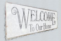 σπίτι μας στην υποδοχή απεικόνιση αποθεμάτων