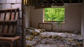 Σπίτι μετά από την έκρηξη Στοκ φωτογραφίες με δικαίωμα ελεύθερης χρήσης