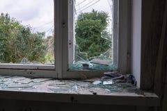 Σπίτι μετά από την έκρηξη Στοκ Εικόνες