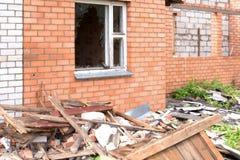 Σπίτι μετά από την έκρηξη Στοκ Εικόνα