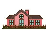 Σπίτι με απομονωμένο το κήπος εικονίδιο ελεύθερη απεικόνιση δικαιώματος
