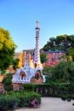 Σπίτι μελοψωμάτων Guell πάρκων της Βαρκελώνης Gaudi στοκ εικόνα με δικαίωμα ελεύθερης χρήσης