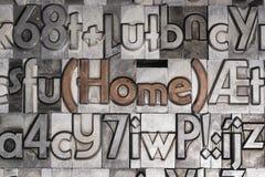 Σπίτι με την κινητή εκτύπωση τύπων στοκ εικόνα με δικαίωμα ελεύθερης χρήσης