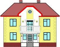 Σπίτι με το μπαλκόνι Στοκ εικόνες με δικαίωμα ελεύθερης χρήσης
