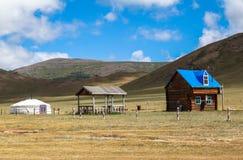 σπίτι Μογγολία παραδοσι& Στοκ φωτογραφία με δικαίωμα ελεύθερης χρήσης