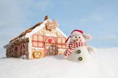 σπίτι μπισκότων Χριστουγέν&n Στοκ Φωτογραφίες