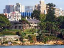 Σπίτι ναυαρχείου, Kirribilli, Σίδνεϊ, Αυστραλία Στοκ φωτογραφία με δικαίωμα ελεύθερης χρήσης