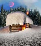Σπίτι νεράιδων στα βουνά Στοκ Φωτογραφίες