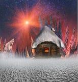 Σπίτι νεράιδων στα βουνά Στοκ Εικόνες
