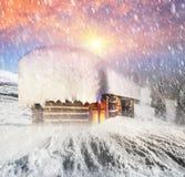 Σπίτι νεράιδων στα βουνά Στοκ Εικόνα