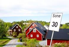 σπίτι νορβηγικά Στοκ Εικόνες