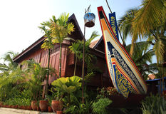 σπίτι νότια Ταϊλάνδη Στοκ εικόνες με δικαίωμα ελεύθερης χρήσης