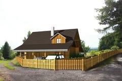 Σπίτι ξυλείας Στοκ φωτογραφίες με δικαίωμα ελεύθερης χρήσης