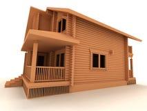 σπίτι ξύλινο διανυσματική απεικόνιση