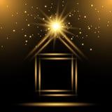 Σπίτι λογότυπων νέου Στοκ φωτογραφία με δικαίωμα ελεύθερης χρήσης
