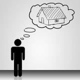 Σπίτι ονείρου διανυσματική απεικόνιση