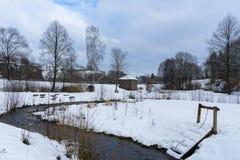 Σπίτι πάγου στη γερμανική πόλη Hallenberg Στοκ Εικόνα