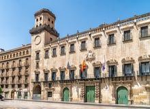 σπίτι παλαιό οικοδόμηση της περίστυλης αίθουσας Ουγγαρία πόλεων Αλικάντε Στοκ φωτογραφία με δικαίωμα ελεύθερης χρήσης