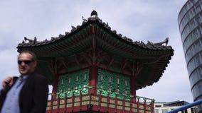 Σπίτι παραδοσιακού κινέζικου, Βερολίνο, Γερμανία απόθεμα βίντεο