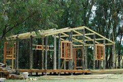 σπίτι πλαισίων ξύλινο Στοκ Εικόνα