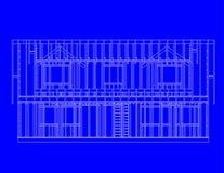 σπίτι πλαισίων οπισθοσκόπ Στοκ Φωτογραφίες