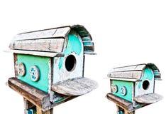 σπίτι πουλιών που απομονώ&nu Στοκ Φωτογραφία