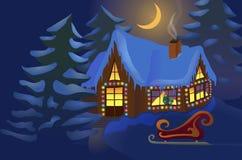 Σπίτι που διακοσμείται για τα Χριστούγεννα Στοκ εικόνες με δικαίωμα ελεύθερης χρήσης