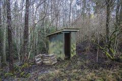 Σπίτι που καίγεται στο έδαφος (outhouse) Στοκ φωτογραφίες με δικαίωμα ελεύθερης χρήσης