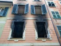 Σπίτι που καίγεται Στοκ Εικόνα