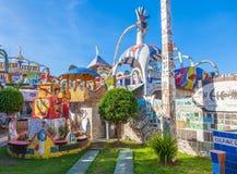 Σπίτι που καλύπτεται από τα κεραμίδια μωσαϊκών, Αβάνα Στοκ Φωτογραφίες