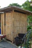 Σπίτι που χτίζεται του μπαμπού στοκ εικόνες