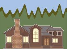 σπίτι προαστιακό απεικόνιση αποθεμάτων