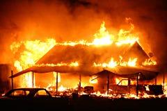 σπίτι πυρκαγιάς στοκ εικόνα με δικαίωμα ελεύθερης χρήσης