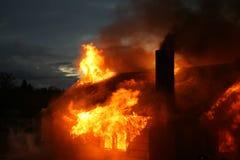 σπίτι πυρκαγιάς στοκ εικόνες με δικαίωμα ελεύθερης χρήσης