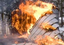 σπίτι πυρκαγιάς Στοκ Εικόνα