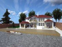 Σπίτι σε ένα σύγχρονο ύφος Στοκ Εικόνες