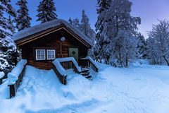 Σπίτι σε Jukkasjarvi, Σουηδία Στοκ εικόνες με δικαίωμα ελεύθερης χρήσης